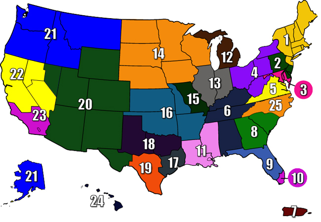 Us Track And Field Map AAU   Track and Field Us Track And Field Map